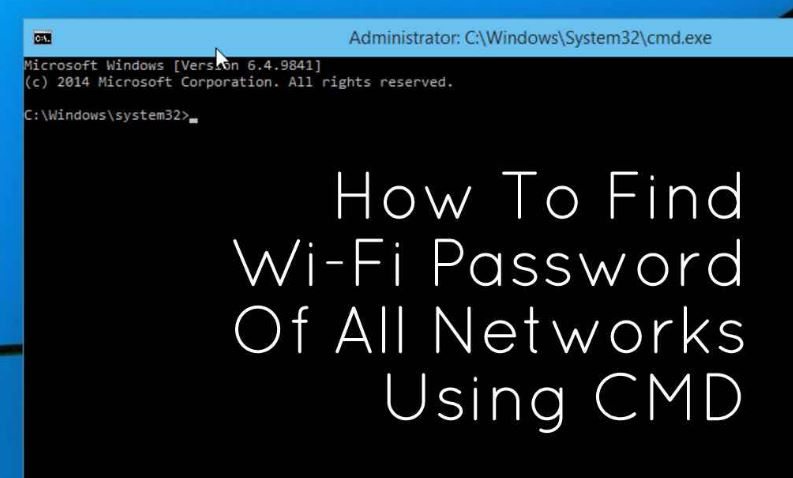 How To Find Wi-Fi Password Using CMD Of All Connected Networks 1