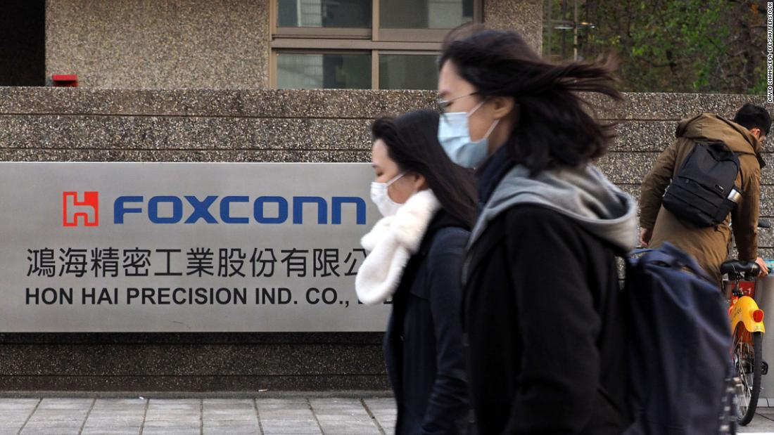 Foxconn, the maker of Apple iPhones, expects production to return to normal this month