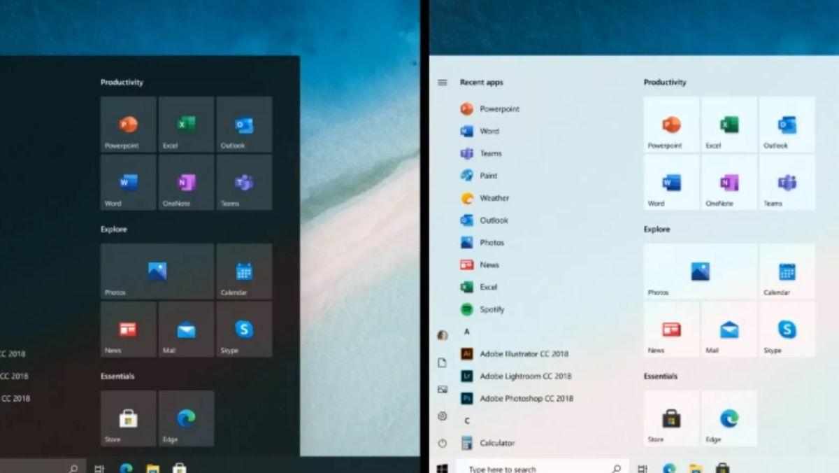 Microsoft finally shows off the new Windows 10 Start menu