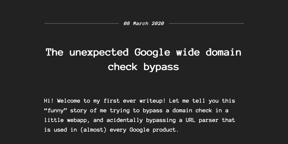 The unexpected Google wide domain check bypass