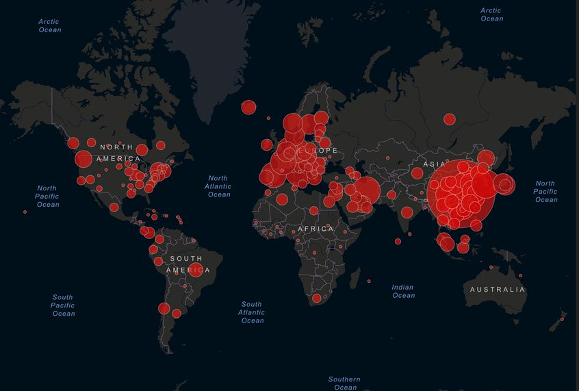 Hackers are making malware-infected coronavirus maps to harvest personal information