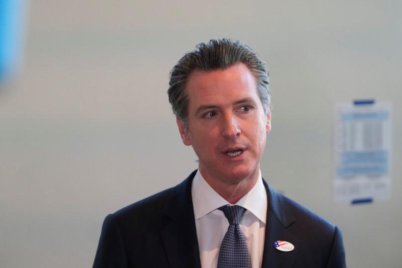California governor issues statewide 'stay at home' order