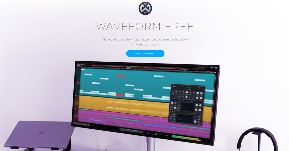 Waveform Free | digital audio workstation band editing software