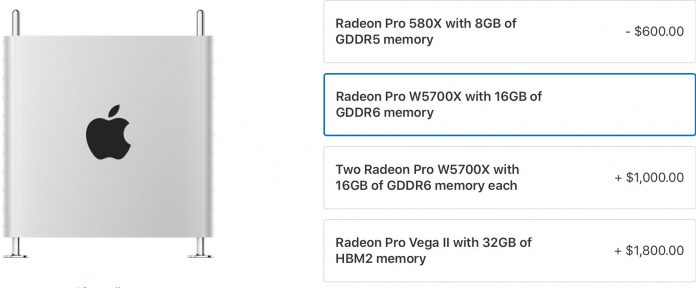 Mac Pro Can Now Be Customized With Radeon Pro W5700X Graphics Cards